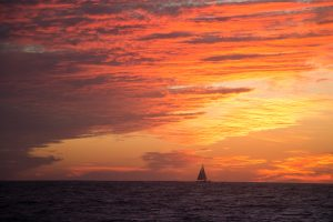 Another Ha-Ha boat and a spectacular sunset as we made our way to Bahia Santa Maria.