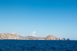 Cabo San Lucas is just around the corner. The water really is that blue.